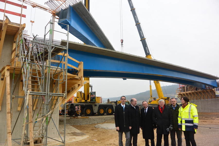 Bauarbeiten an Mühlhausener Ortsumgehung schreiten voran. Foto: Christian Biersack. Foto: sjj